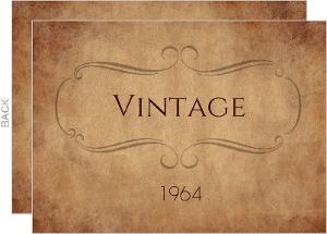 VINTAGE 1964 50th Birthday Invitation