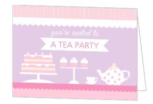 Sweet Tea Party Birthday Invitation