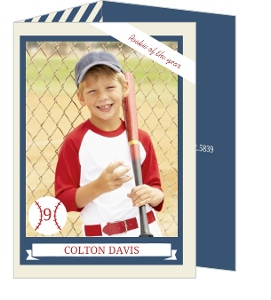 Baseball Trading Card Birthday Party Invitation