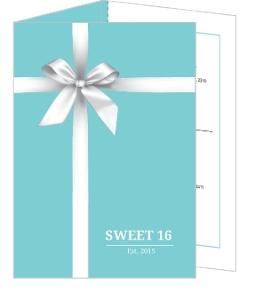 Cute White Ribbon Sweet Sixteen Birthday Invitation