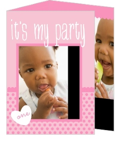 Sweet Baby Pink First Birthday Invitation