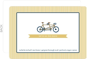 Double Bicycle Moving Announcement