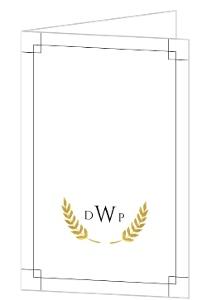 Faux Gold Foliage Monogram Graduation Thank You Card