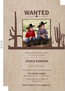 Western Boy Surprise Party Invitation