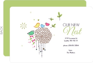 Colorful New Nest Moving Announcement