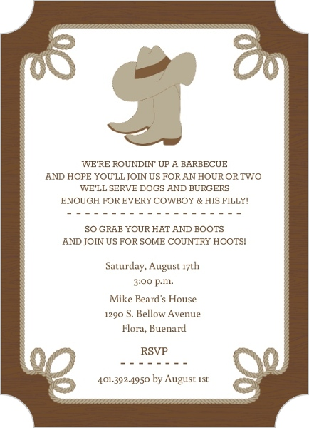 Wedding Shower Invite with awesome invitation sample