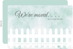 We've Moved Picket Fence Moving Announcement
