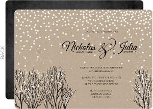 Kraft Snowfall Wedding Invitation