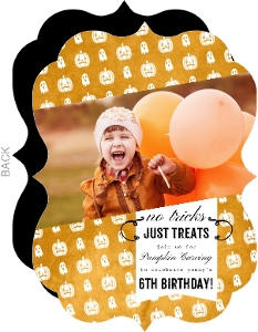 Rustic Pumpkins Halloween Birthday Invitation