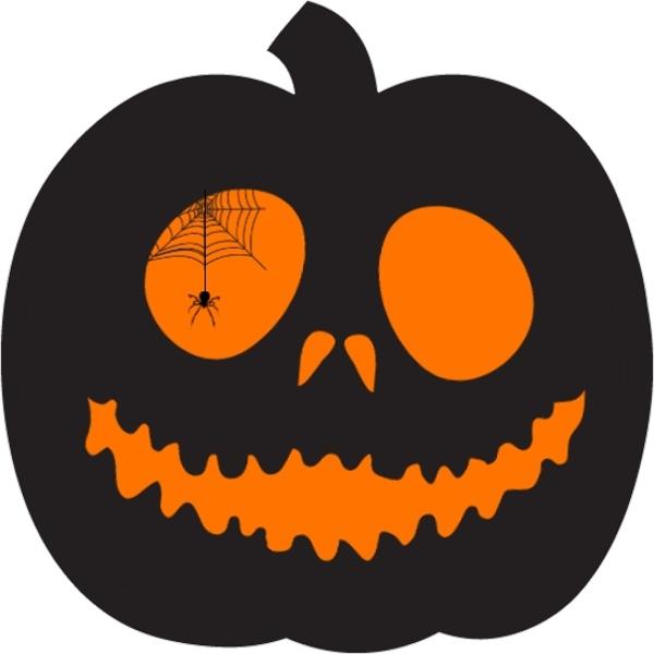 Glowing Pumpkin Halloween Birthday Party Invitation