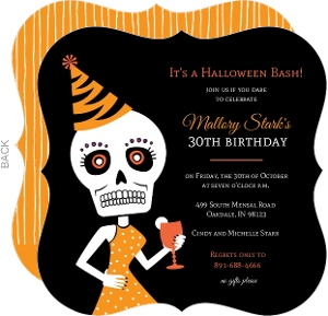 Cheap Halloween Birthday Invitations - Invite Shop