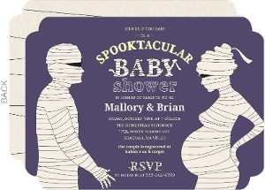 Mummified Spooktacular Halloween Baby Shower Invitation