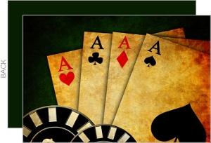 Saloon Cards Poker Night Invitation