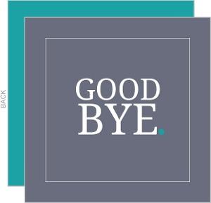 Goodbye Going Away Card