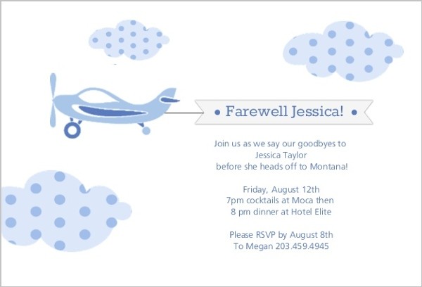 Farewell Party Invite – Farewell Party Invitation Email