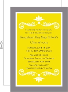 Bright Colored Class Reunion Invitation