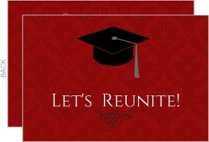 Graduation Cap Let's Reunite Class Reunion Invitation