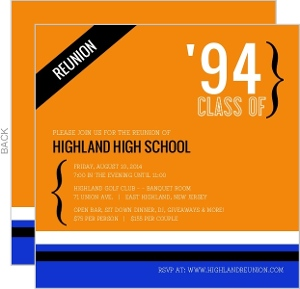 Contemporary Class Reunion Invitation