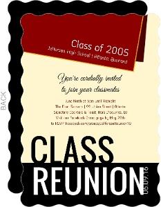Diploma Class Reunion Invitation