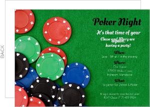 High Stakes Poker Night Invitation