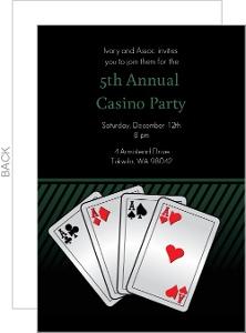 Aces Casino Party Invitation