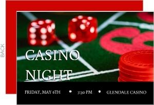 Rolling the Dice Casino Party Invitation