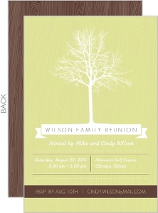 Green Tree Family Reunion Invitation