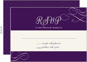 Elegant Royal Purple Wedding Response Card