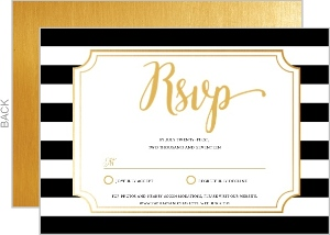 True Love Stripes Wedding Response Card