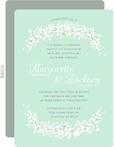 Whimsical Babys Breath Wedding Invitation