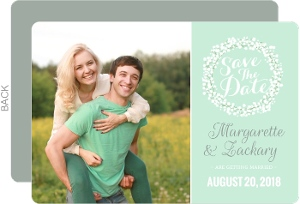 Whimsical Babys Breath Wedding Save The Date Card