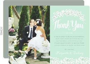 Whimsical Babys Breath Wedding Thank You Card