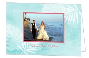 Seaside Oasis Wedding Thank You Card