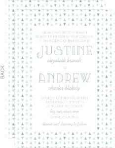 Soft Mint Pattern Wedding Invitation