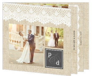 Antique Lace Wedding Thank You Booklet
