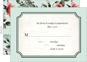 Beautiful Vintage Floral Wedding Response Card