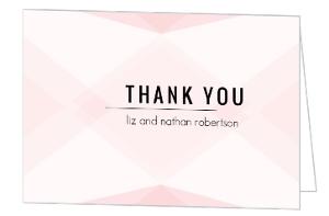 Modern Romance Wedding Thank You Card