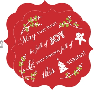 Red mistletoe icon business holiday card for Discount business holiday cards