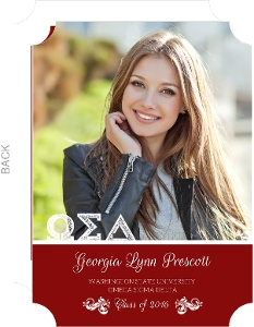 Sorority Greek Letters Graduation Invitation