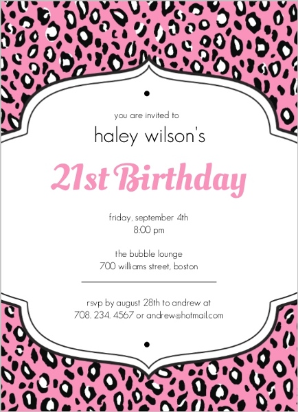 Invitation Ideas For 21St Birthday Party with great invitation layout