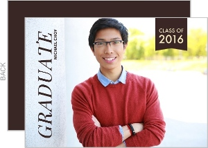 Brown Banner Graduation Announcement