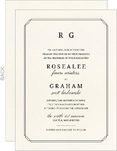 Double Frame Monogram Wedding Invitation