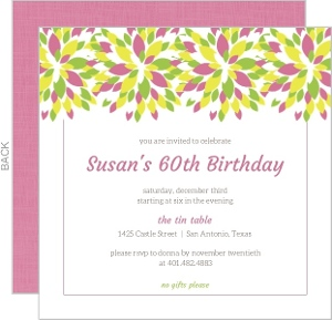 Cheap 60th Birthday Invitations & Inexpensive 60th ...
