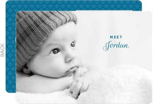 Elegant Full Photo Boy Birth Announcement