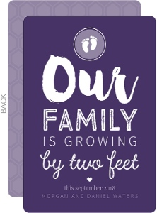 Two Feet Typography Pregnancy Announcement