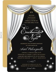 Elegant Enchanted Night Birthday Invitation