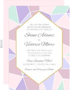 Delicate Triangles Wedding Invitation