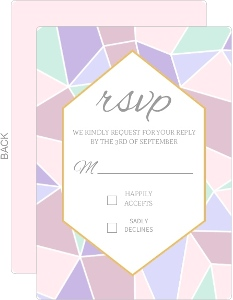 Delicate Triangles Wedding Response Card