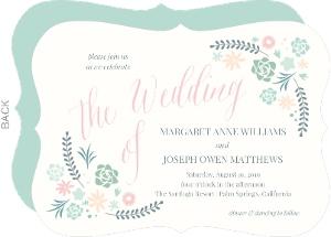 Succulent Bouquet Wedding Invitation