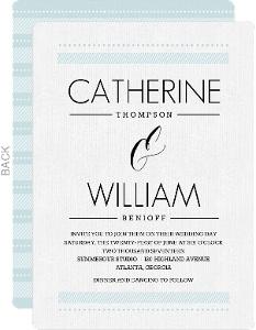 Modern Pale Blue Pattern Wedding Invitation